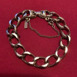 Vintage Monet Silver chain link bracelet
